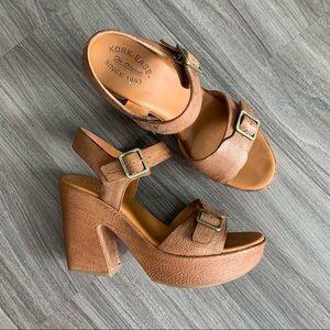 """Kork-Ease """"kenora"""" platform heel sandal"""